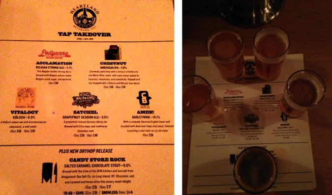 heartland tap takeover collage